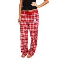 Nebraska Cornhuskers Ladies Revelation Flannel Pants - Scarlet