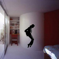 Life Size MICHAEL JACKSON, King of Pop removable wall decal perfect for music room, dance studio, or bedroom