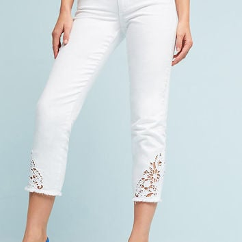 Joe's Debbie Ultra High-Rise Skinny Embroidered Jeans