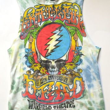 Tie Dye Grateful Dead Crop shirt