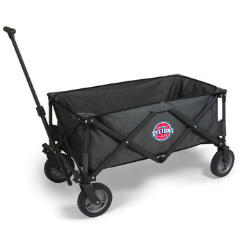 Detroit Pistons - 'Adventure Wagon' Folding Utility Wagon by Picnic Time (Dark Grey)