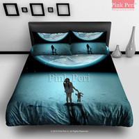 Original Earth Bedding sets Home & Living Wedding Gifts Wedding Idea Twin Full Queen King Quilt Cover Duvet Cover Flat Sheet Pillowcase Pillow Cover 038
