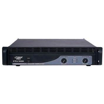 2-Channel Professional Power Amplifier - Rack Mount Bridgeable Audio Amp, 1000 Watts