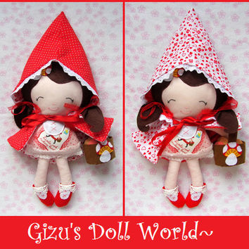 Little Red Riding Hood Fabric Cloth Doll :)