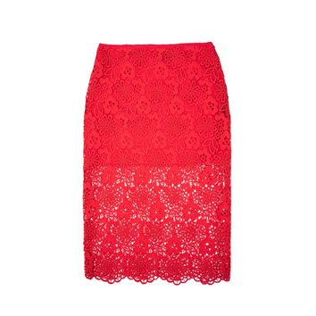 Cynthia Rowley - Lace Pencil Skirt | New Arrivals