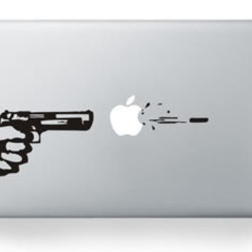 "For Macbook pro 13""  Personality GUN Pattern Sticker for macbook Air Pro Retina 13 15 inch Laptop decal vinyl Skin cover"