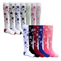 STAR SOCKS 15 DIFFERENT COLOR COMBINATIONS