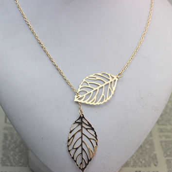 Fashion exaggerated leaves Necklace