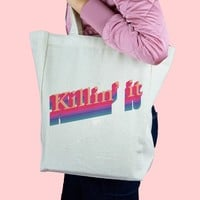 Killin' It Canvas Tote Bag