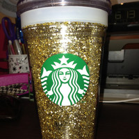 Cold Glittery Starbucks Cup