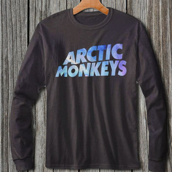 arctic monkeys shirt long sleeve black and white t shirt clothing unisex adult size S M L