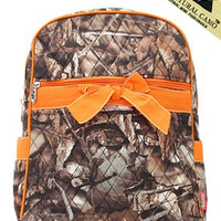 Camo Quilted Backpack - 4 Color Choices