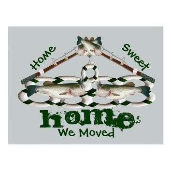 Home Sweet Home We Moved Fish Postcard