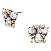 Women's BaubleBar 'Crystal Flurry' Cluster Stud Earrings - Antique Gold