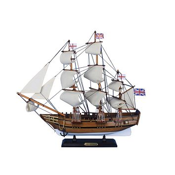 Wooden Charles Darwins HMS Beagle Tall Model Ship 20""