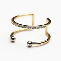 Luv Aj Womens Double Barbell Open Ring
