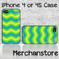 Wave Chevron Custom iPhone 4 or 4S Case Cover