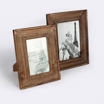 Wooden Vintage Weathered Photo Frame Set [6254451590]