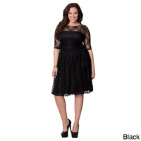 Kiyonna Women's Plus Size 'Luna' Lace Dress | Overstock.com Shopping - The Best Deals on Dresses