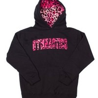 Girls/Adult Sweatshirt Gymnastics Hoodie Black with Fur Lined Hood