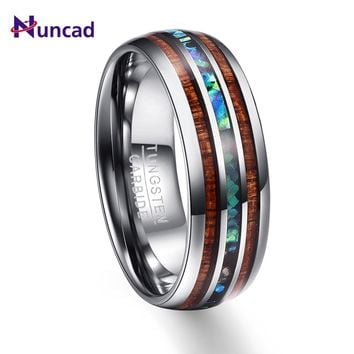 Wood Grain Polishing Promise Band Men Rings 100% Tungsten Carbide Wedding Bands Multi-size Anillos para hombres Pierscienie