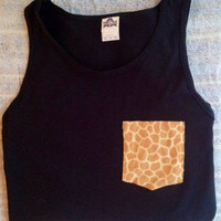 Customized Pocket Tank Tops. Small, Medium, Large, Extra Large