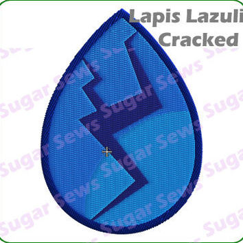 Steven Universe Lapis Lazuli Cracked Iron On Embroidery Patch