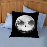 The Nightmare Before Christmas Jack Moon square piloow custome zippered pillow case one side and two side
