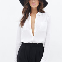 LOVE 21 Classic Button-Down Shirt