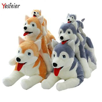 30-60cm Cartoon  birthday gift for kids  Cute Husky plush toys gray/brown artificial dog doll stuffed animals plush toy