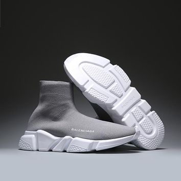 Gray BALENCIAGA Boots Casual Running Sport Shoes Sneakers