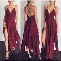 Ladies Boho Long Evening Dress