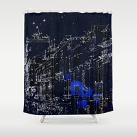 Night vision in time Shower Curtain by anipani