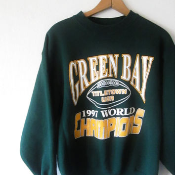 Vintage 1990s Green Bay Packers Hey Vince, We Got Your Trophy Back Sweatshirt Sz M