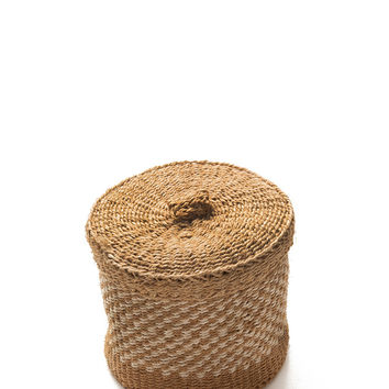Small Woven Lidded Basket