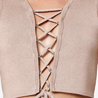Kendall and Kylie Lace-Up Sweater Tank Top at PacSun.com