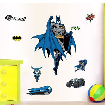 3D Batman Wall Stickers Removal Boys Kids Baby Decal
