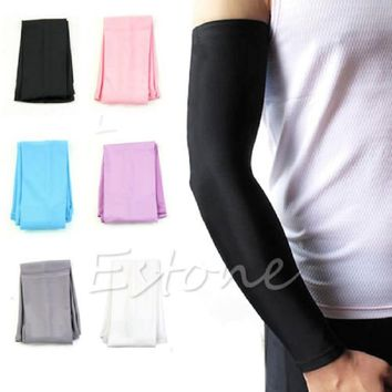 1Pair Sun UV block Summer Men's Women's Arm Sleeves For Sun Protection Cycling Running golf Fishing Clambing Cool Warmer Cover