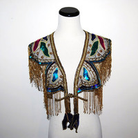 Peacock Sequin Wrap by CheekyVintageCloset on Etsy