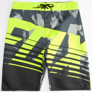 Fox Savant Camo Mens Boardshorts Yellow  In Sizes