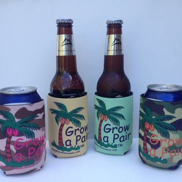 GROW a PAIR Beverage holder.  When life is unfair, grab a cold one and Grow a Pair