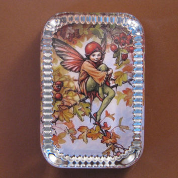 Autumn Hawthorn Flower Fairy Heirloom Rectangle Glass Paperweight Cicely Mary Barker Home Decor