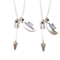 Arrow Necklace Set Best Friends Jewelry Archery Necklace Set Arrow Jewelry Geekery Gifts Hunters Necklace Set Bff Necklace Set