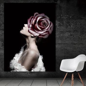 Wall Pictures art portrait  canvas painting modern wall Wall art abstract print figure  art print canvas Picture decor poster