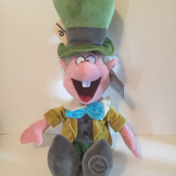 disney store europe alice in wonderland mad hatter soft toy plush new with tags