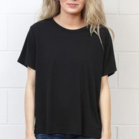 Basic Short Sleeve Modal Tee {Black}