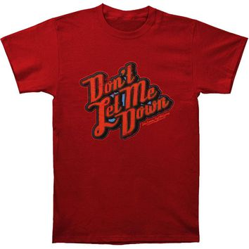 Beatles Men's  Don't Let Me Down T-shirt Red