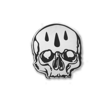 Rain Drop Skull Enamel Pin