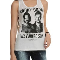 Supernatural Kansas Carry On Wayward Son Girls Tank Top