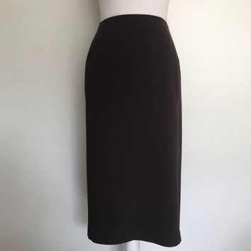 TALBOTS Women's Plus Size 22W Brown Career Lined Pencil Skirt